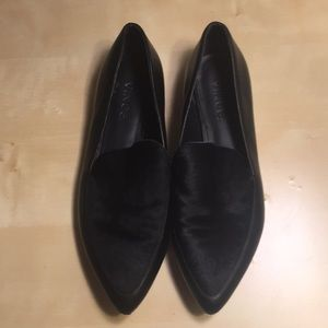 Vince Nikita Calf Hair and Leather Loafers